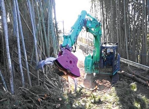 フェラバンチャー伐採工事